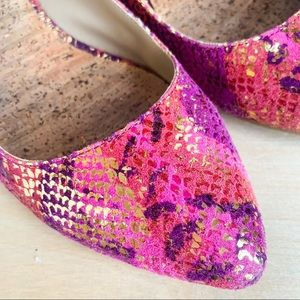 KENNETH COLE - faux pink python printed flats